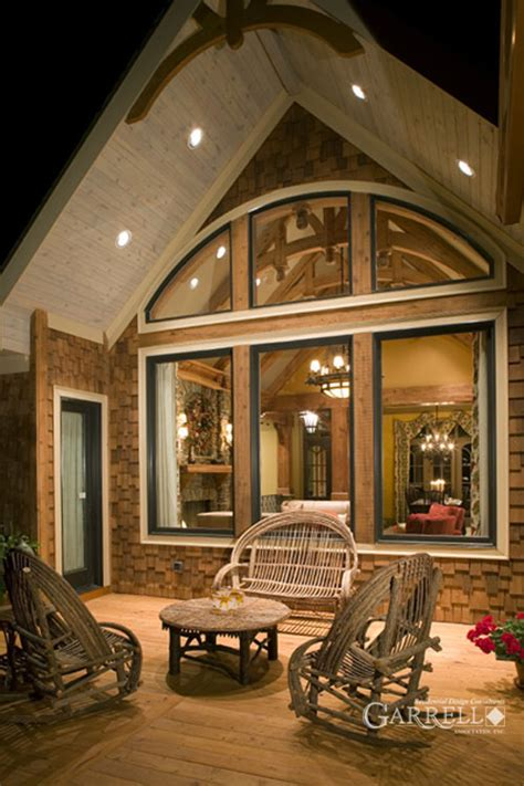 Rustic Luxury Mountain House Plan The Lodgemont Cottage Mountain House Plans Rear View