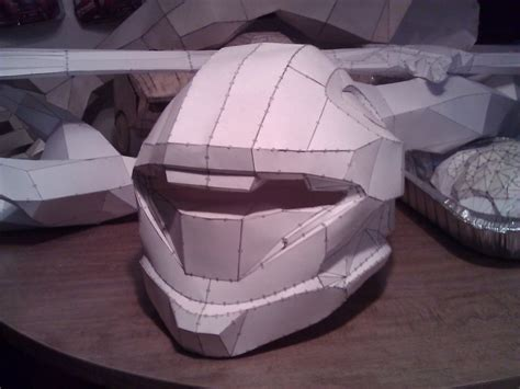 Papercraft Halo Helmet - progress thread the method the madness