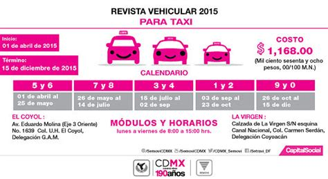 calendario revista taxis df 2016 se l 237 a periodo para revista veh 237 cular jos 233 c 225 rdenas