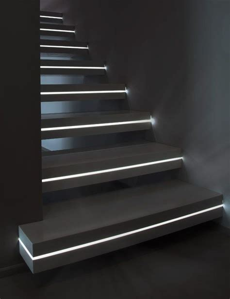 Led Light Strips For Stairs Adding Led Light Strips Within The Stairs Would Create An