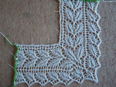 leaf edging knitting pattern leaf lace edging knitting