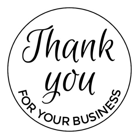 Free Thank You For Your Business Card Template by Clipart Thank You For Your Business Clipart Collection