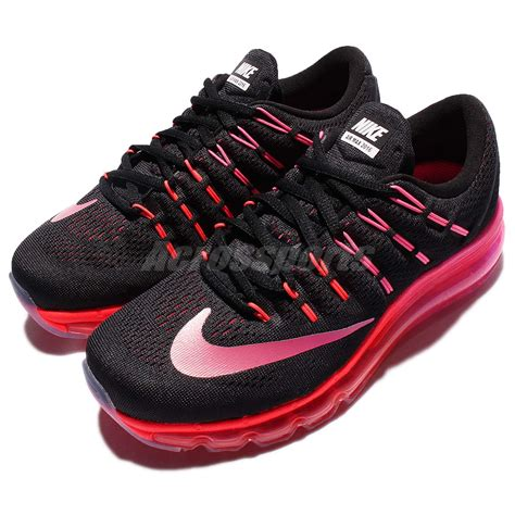 Nike Airmax Running 2016 Hitam Made In 100 Import wmns nike air max 2016 black pink womens running shoes