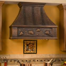kitchen stove hoods 36 quot tuscan series copper wall mount range grape