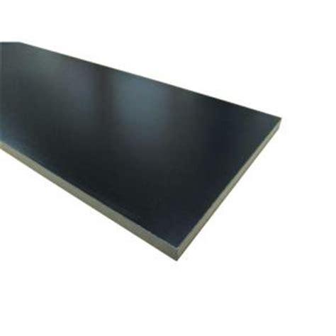Black Melamine Shelf Board 3 4 in x 16 in x 97 in black thermally fused melamine