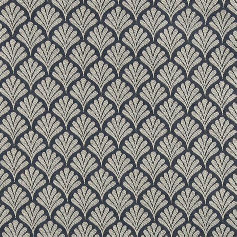 blue pattern upholstery fabric navy blue fan patterned woven upholstery fabric by the