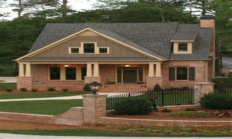 brick bungalow house plans craftsman house plans brick craftsman style house plans