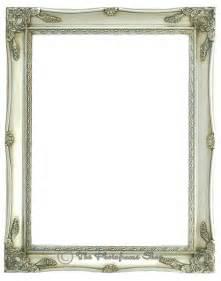 Ornate vintage shabby chic swept antique silver picture frames rim
