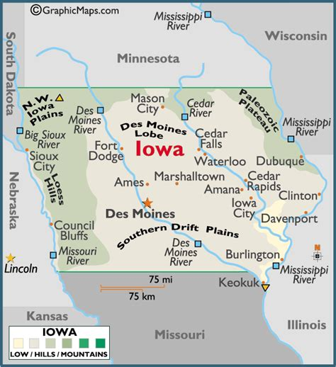 of iowa colors iowa large color map