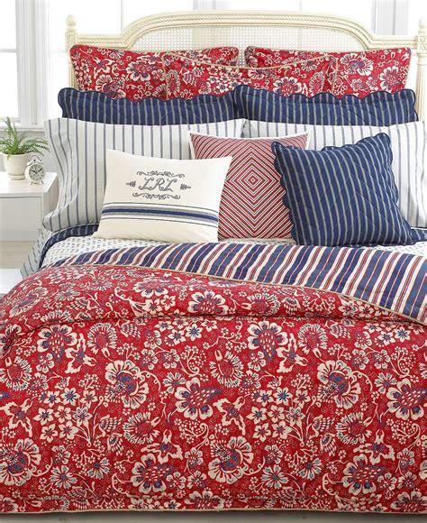 Ralph Lauren Duvet King Ralph Lauren Villa Martine Red Full Queen Duvet Cover