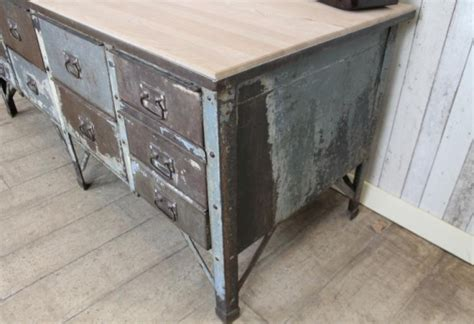 retro kitchen island vintage industrial metal kitchen island work bench