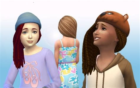 sims 4 custom content braids box braids side for girls at my stuff 187 sims 4 updates