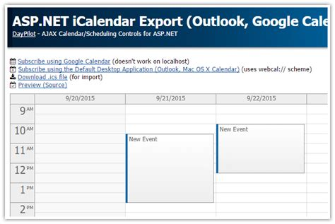 php tutorial mac os x tutorial asp net icalendar export outlook google