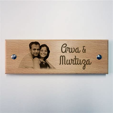 name board design for home engraved wooden name plate photo vignette