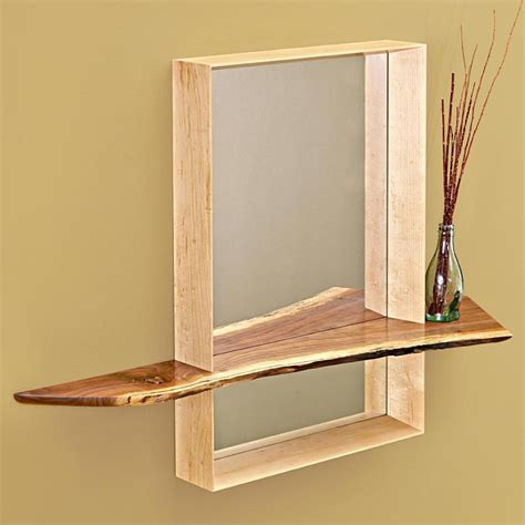 Mirror With Shelf by Mirror With Shelf Woodworking Plan From Wood Magazine