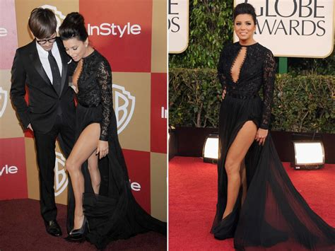 longoria wardrobe malfunction golden globe awards