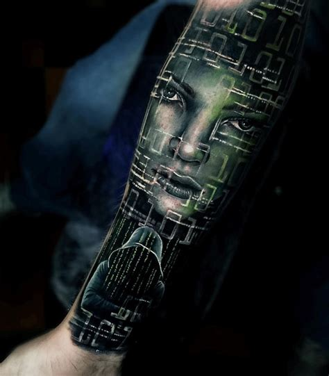 hacker tattoo hacker s sleeve best ideas designs