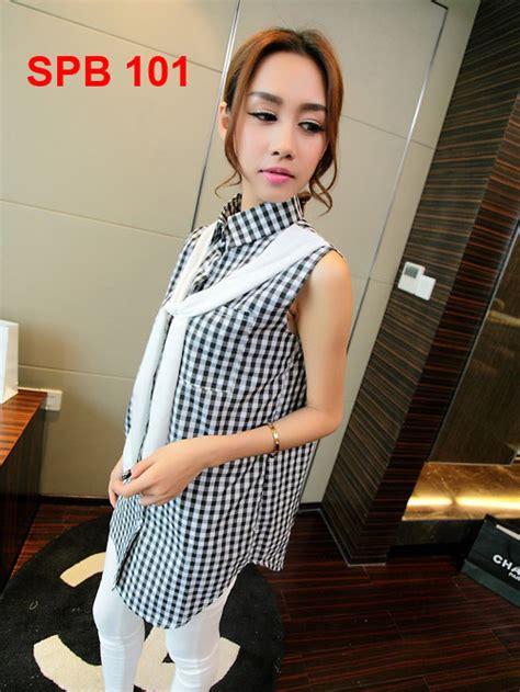 Baju Blouse Panjang Cewek Korea baju cewek model korea spb 101 gudang fashion
