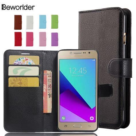 Cover Leather Wallet Samsung Galaxy J2 beworlder for samsung galaxy j2 prime pu leather phone cover card slot flip wallet for
