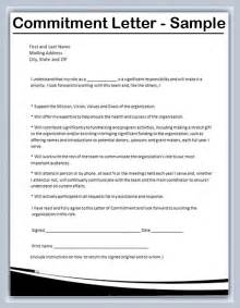Appraisal Commitment Letter Resume Exle Inspiration Decoration Letter Of Commitment Jvwithmenow Strategic