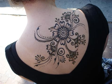 temporary tattoo henna style henna flowers tattoos design