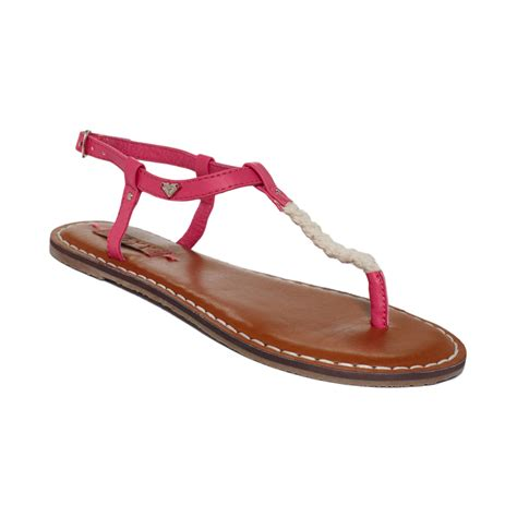 pink flat sandals sparrow tstrap flat sandals in pink lyst