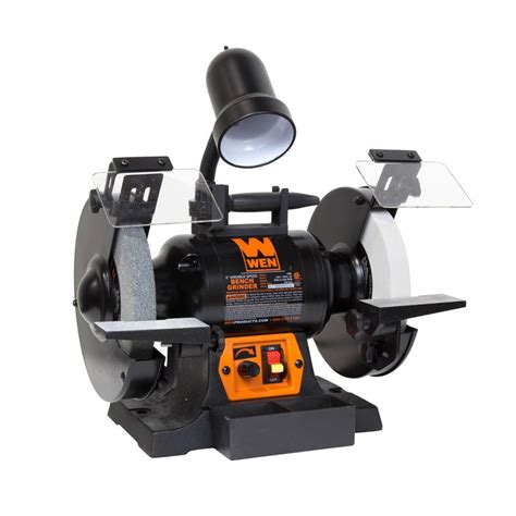 bench grinder variable speed wen 5 amp 8 in corded variable speed bench grinder with work light 4280 the home depot