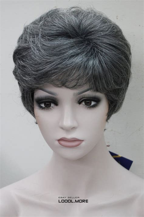 wigs for middle aged men black with gray white middle aged women elderly ladies