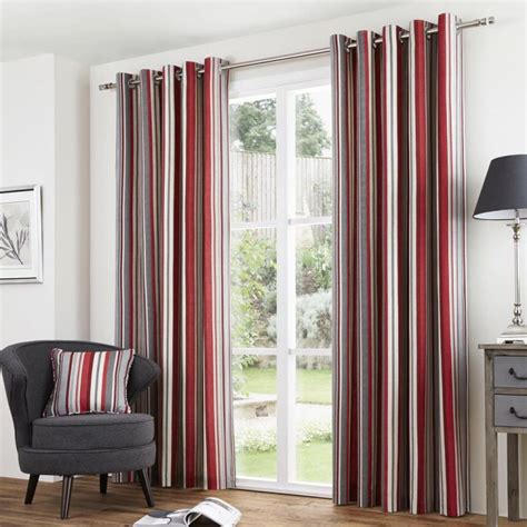 stripes curtains red striped kitchen curtains www imgkid com the image