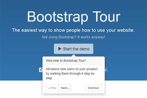 bootstrap tutorial with jquery jquery and bootstrap tour javascript html5 jquery
