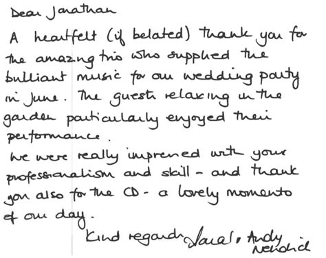 thank you letter to band thank you letter to band 28 images meet the faculty
