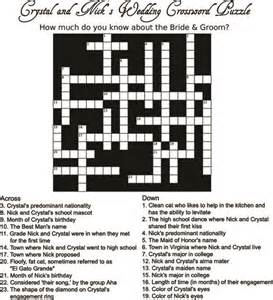 bridal shower word search maker crossword puzzles for programs or bridal showers diy
