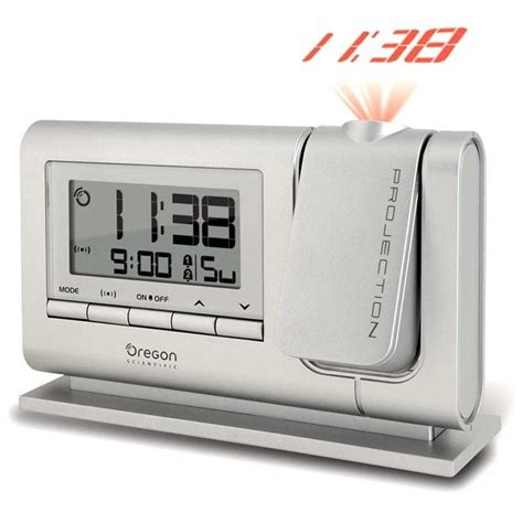 oregon scientific rm308pa s atomic dual alarm projection clock silver oregon scientific store