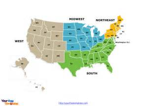 Maps Of Usa With States by Free Usa Region Powerpoint Map Free Powerpoint Templates