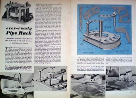 tobacco pipe rack plans how to build mahogany tobacco pipe rack holder 1948 diy article plan ebay