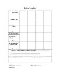 elementary rubric template 5 best images of printable blank rubric template blank