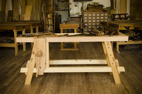 Bench Vice Stand The Portable Moravian Workbench At The Woodwright S