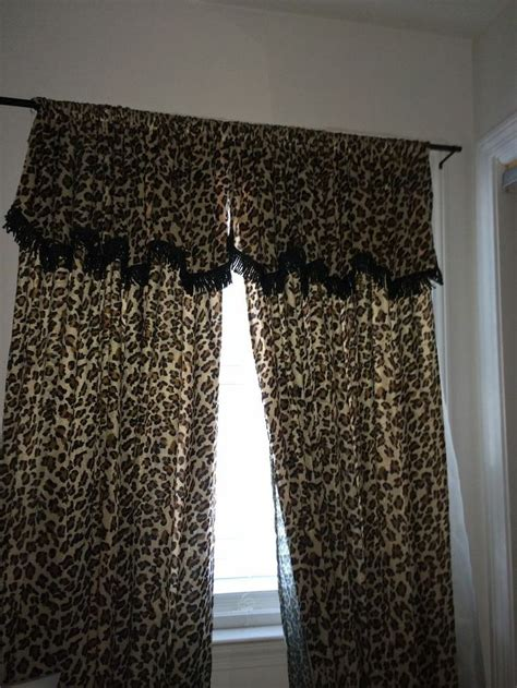 leopard print curtains cheetah print curtains and decorative pillows