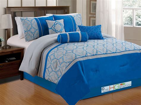 quatrefoil comforter set 7 pc embroidery quatrefoil geometric trellis comforter set