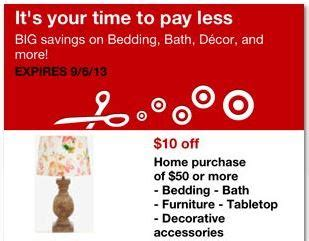 home decorators coupon 2013 target 10 off 50 in home decor department