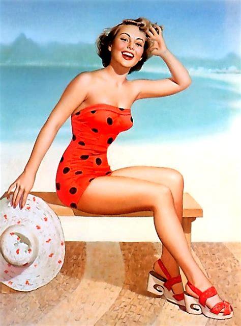 pin up home decor pop art sandy beach girl pin up vintage poster classic