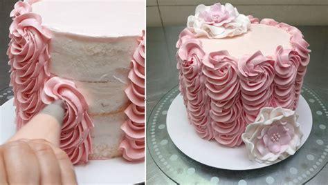kuchen mit zuckerguss verzieren buttercream cake decorating fast and easy technique by