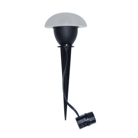 low voltage halogen garden lights shop portfolio black low voltage halogen path light at
