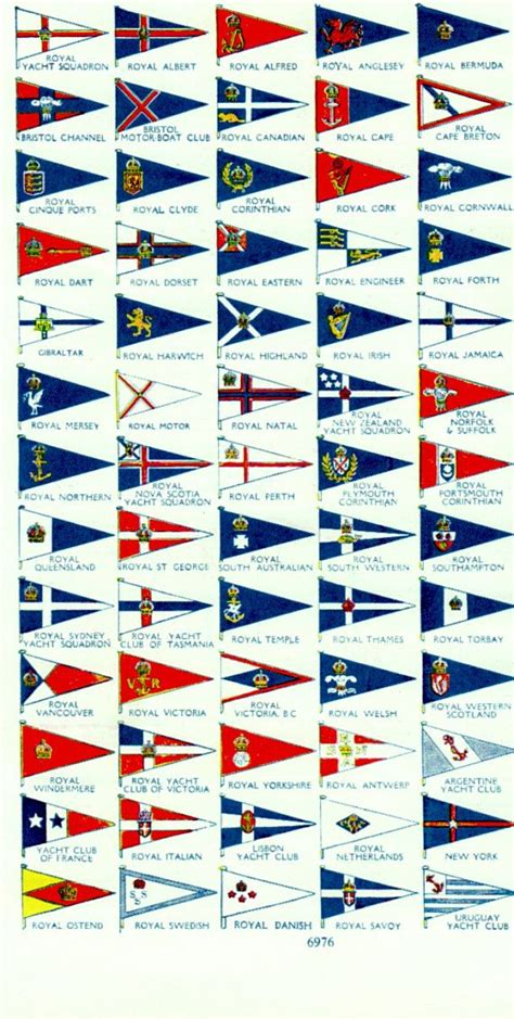 sailing boat flags antique print yacht club flags vintage nautical print boat