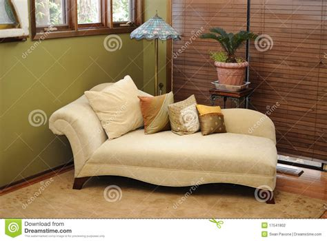 Country Livingrooms plush interior lounge chair stock photography image