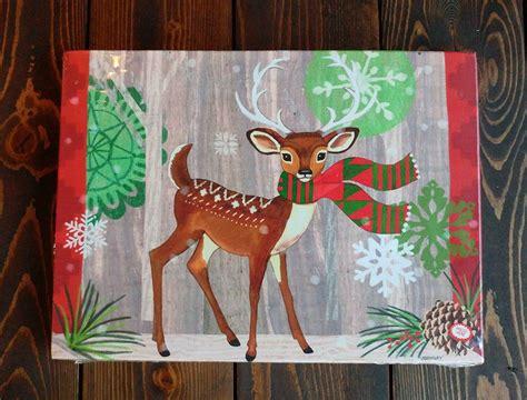 light up deer deer light up canvas wall decor by raz the