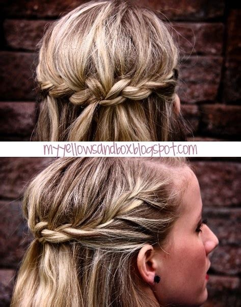 braid behind ear images french braid on each side of the head normally until you