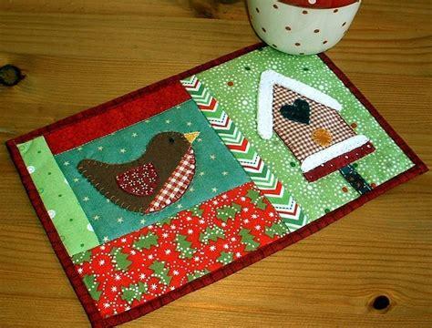 mug rug winter birdhouse mug rug by the patchsmith craftsy