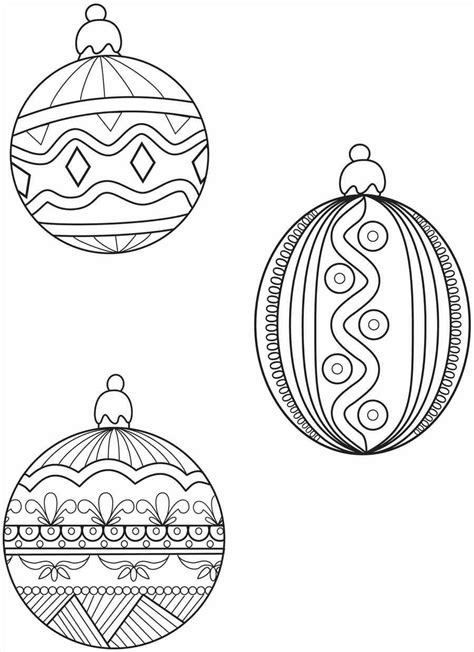 Coloring Book Ornaments