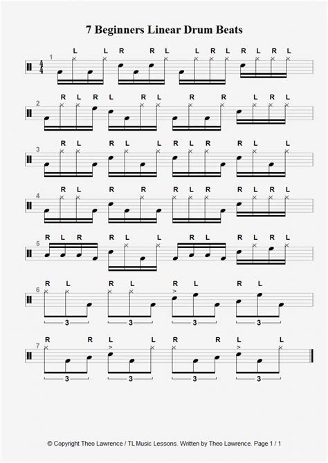 drum rhythms online drum tutorial for beginners pdf theory exercises music